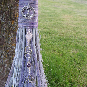 Lavender Wedding Broom, Handfasting Besom,Wiccan Wedding,Handcrafted Witches Broom, Jump the Broom, Broom Jumping, Witchcraft Wicca, Pagan,