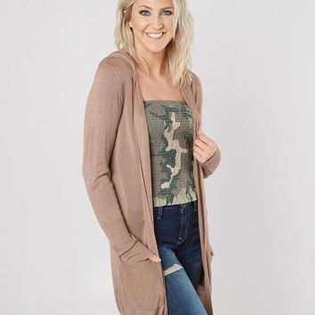 Daytrip Hooded Cardigan Sweater - Women's Sweaters in Portabella | Buckle