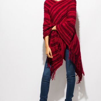 Knit Poncho Top (3 Colors)