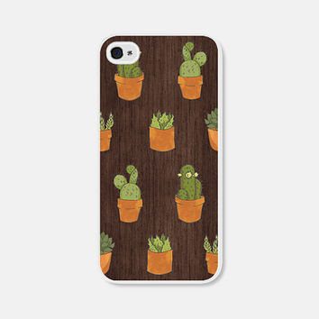 Wood iPhone 6 Case - Succulent iPhone 5 Case - Wood iPhone 5c Case - Pink Cactus iPhone 5 Case - Geometric iPhone 5c Case - Ccoc