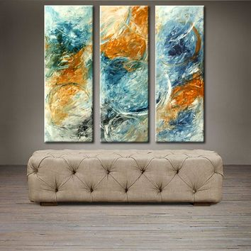 """'Bubbles in the sky' - 36"""" X 36"""" Original Abstract  Art."""