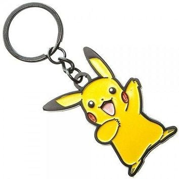 "Bioworld: Pokemon Metal Keychain Pikachu Keychain 3"" Total"