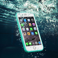 Brand Shockproof Dustproof Underwater Diving Waterproof 360 Full Cover Phone Cases Cover For iPhone 7 7 plus iPhone 5S 6 6S 6 Plus 4.7 5.5 inch+ Nice Free Box