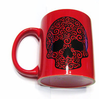 Sugar Skull Coffee Mug - Day Of The Dead - Fun Mug - Kitchen and Dining - Home and Living - Drink and Barware - Mugs -  Cup - Coffee Mug