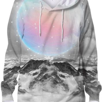 Places Neither Here Nor There (Guardian Moon) Unisex Hoodie Sweatshirt v2 created by soaringanchordesigns | Print All Over Me