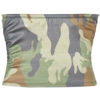 At Ease Green Camo Tube Top