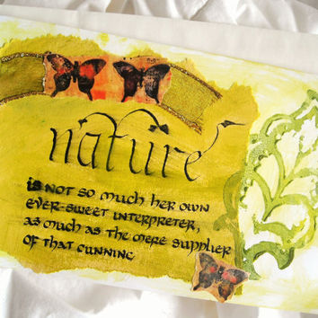 Collage Card, All Occasion Card, Spring Card, OOAK Card, Nature Card, Art Card, Friendship Card, Threshold Paper Art Eco Chic Butterfly Card