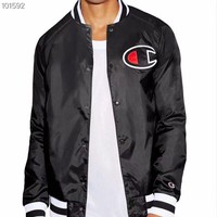 HCXX Champion jacket jacket baseball uniform Black