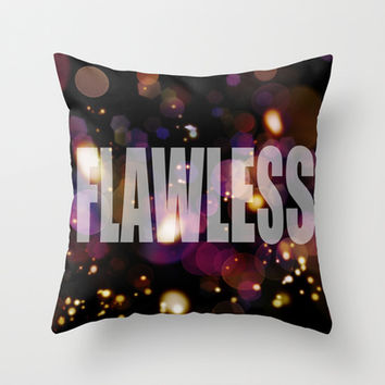 Flawless Throw Pillow by andrialou