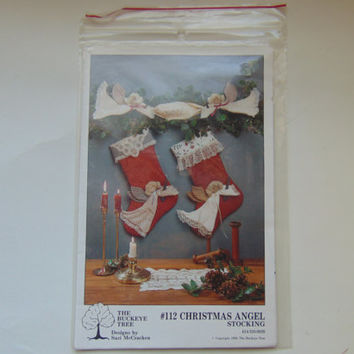 The Buckeye Tree Sewing Pattern 112 Christmas Angel Stocking Craft