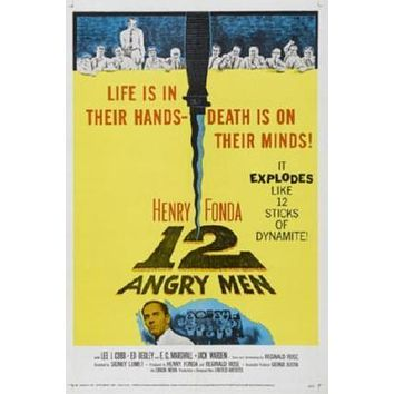 12 Angry Men Movie poster Metal Sign Wall Art 8in x 12in
