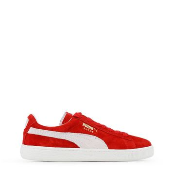 Unisex Red & White Puma Classic Sneakers