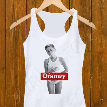 Tank Top _ Miley Cyrus Disney Size S,M,L,XL,XXL For Men's And Girl