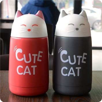CUTE CAT Stainless Steel Thermos 330ml (4 Colors)
