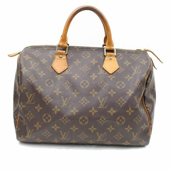Authentic Louis Vuitton Hand Bag Speedy 30 M41526 Browns Monogram 260250