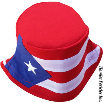18dc2ec8475 Panama Flag Red-top Bucket Hat