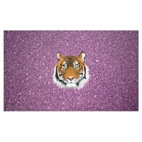Purple Tiger with Glitter Background Banner