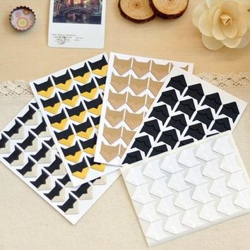 24 pcs/lot (1 sheet ) DIY Vintage Retro Corner Paper Stickers for Photo Albums Pictures Frame Home Decoration Free shipping 2005