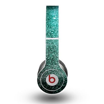 The Grungy Teal Texture Skin for the Beats by Dre Original Solo-Solo HD Headphones