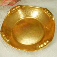 Beautiful Pickard Porcelain Bowl ~ Floral Scroll ~ Gold Encrusted