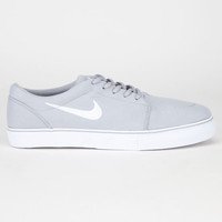 Nike Sb Satire Canvas Mens Shoes Wolf Grey/White  In Sizes