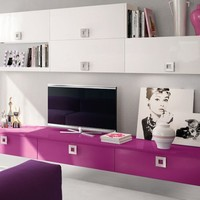 Sectional wall-mounted storage wall Martina Collection by Cucine Lube