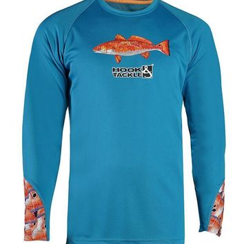 Men's Redfish Tails Vented L/S UV Fishing Shirt