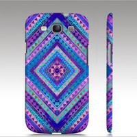 Tribal Samsung Galaxy S3 case, Aztec colorful diamond triangle pattern design, trendy hipster fashion style, art for your phone
