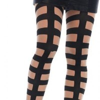 Caged In Strappy Illusion | TIGHTS