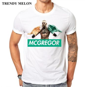New Arrival Casual Cool Design Conor Mcgregor Men T shirt 2017 Funny Cotton T-shirt White Short Sleeve Tops Hipster Tees JC10