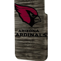 Best 3D Full Wrap Phone Case - Hard (PC) Cover with Arizona cardinals football on Wood Design