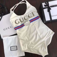 GUCCI Women Fashion Print One Piece Swimwear Bikini Swimsuit