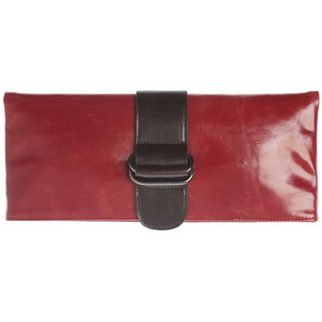 Shiraleah Harper Vegan Clutch Bold Pomegranate Color