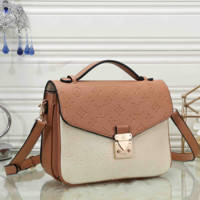 Louis Vuitton Women Fashion Leather Crossbody Shoulder Bag Handbag Satchel