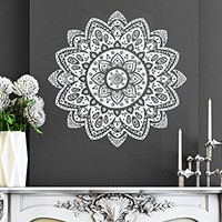 Mandala Wall Decal Vinyl Sticker Decals Lotus Flower Yoga Namaste Indian Ornament Moroccan Pattern Om Home Decor Bedroom Art Design Interior NS930