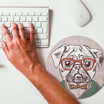 PUG Painting Mouse Pad Mouse Mat Hipster Animal
