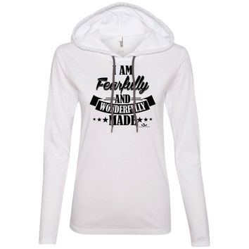 I AM FEARFULLY AND WONDERFULLY MADE Ladies' LS T-Shirt Hoodie
