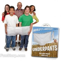 The World's Largest Underwear | Really Funny Props | FunSlurp.com