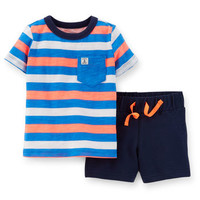 2-Piece Jersey Tee & French Terry Short Set
