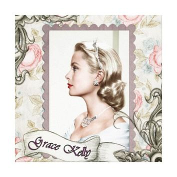Grace Kelly Vintage Film Movie Star Canvas Print