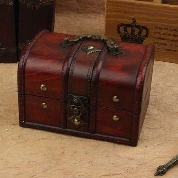 ac PEAPON Jewelry Storage Box Hot Sale Vintage Wooden Accessory Box [11133761356]