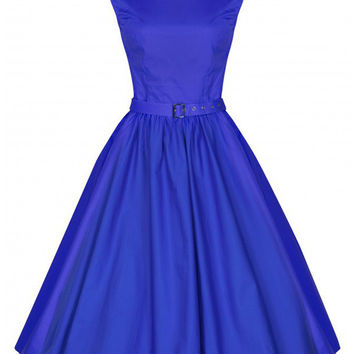 Sleeveless Belted Sheath Tent Mini Dress