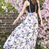 Bianca Floral Pleated Maxi Skirt
