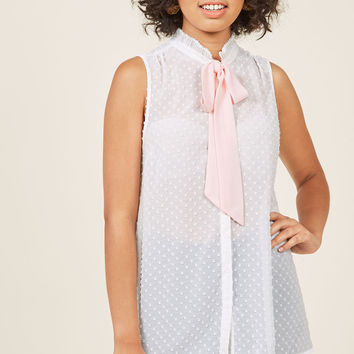 Sleeveless Button-Up Tunic