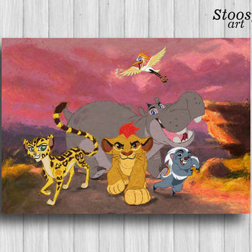 lion guard poster lion king painting disney watercolor