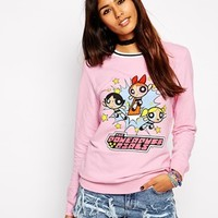 ASOS Sweatshirt with Powerpuff Girl Print at asos.com