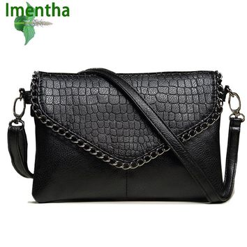 Big size women bags female small shoulder bags leather handbag black purses crossbody bags for women Envelope girl lady hand bag