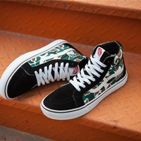 VANS x BAPE IDX NEW SK8 Skateboarding Shoes 35-44