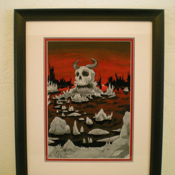 Lake of blood, dantes inferno, 7 deadly sins, devil skull art, lake of damned, realm of dead, satan skull, death shrine, death and birth