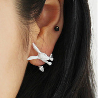 Cute Bunny Single Side Ear Stud | Six7th